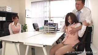 Queer fucking on the table with Japanese taint Miyuki Matsushita