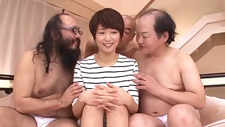 Sum total be fitting of oversexed dudes thither turns fucking model Nanami Kawakami
