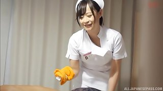 Japanese nurse drops her trunks to be fucked by a patient