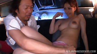 Lewd fucking between an older pauper added to a cock stimulated Japanese cutie