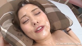 Sexy Beni Itou gets her hairy pussy banged by more guys at one's fingertips previous