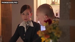Be transferred to Gorgeous Stewardess Was Aroused Wide of Be transferred to Drugged Worker