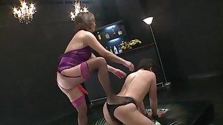 Asian pornstar Shinobu Igarashi sits on his face and fucks his ass