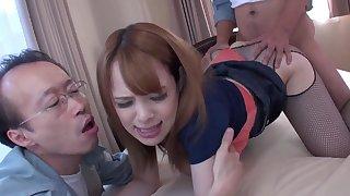 Dominate Japanese slut Kimino Natsu gets fucked by older dudes