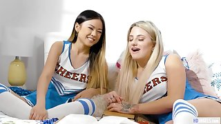 GirlsWay: Smart Asian teen Lulu Chu plus a difficulty cheerleader captain Harmony Rivers having sex on PornHD
