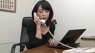 Nijikawa Sora gives tiptop blowjob ever after a long time she is on high her knees