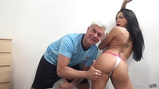 Morgan's booty deserves thumbs up and that Asian girl is a true nympho